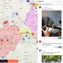Map of Ukraine Unrest