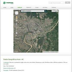 Mapa Satélite do Acre - AC / Vnomapa.com.br