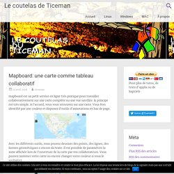 Mapboard: une carte comme tableau collaboratif