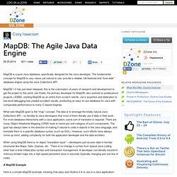 MapDB: The Agile Java Data Engine