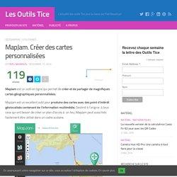 MapJam. Créer des cartes personnalisées – Les Outils Tice