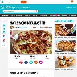 Maple Bacon Breakfast Pie recipe