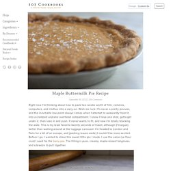 Maple Buttermilk Pie Recipe