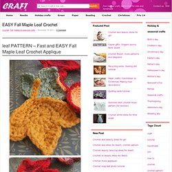 easy fall maple leaf crochet