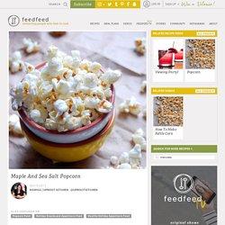 Maple And Sea Salt Popcorn recipe
