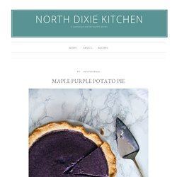 Maple Purple Potato Pie