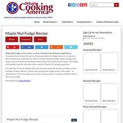 Maple Nut Fudge Recipe, Whats Cooking America