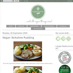 Vegan Yorkshire Pudding