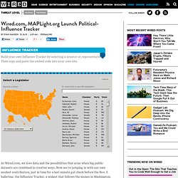 MAPLight.org Launch Political-Influence Tracker | Threat Level