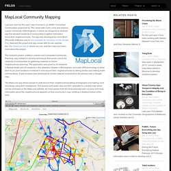 MapLocal Community Mapping – fields