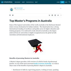 Top Master's Programs in Australia: mapmystudy1 — LiveJournal