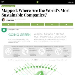 Mapped: Where Are the World's Most Sustainable Companies?
