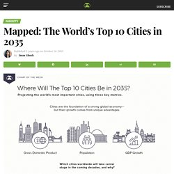 Mapped: Where Will The Top 10 Cities Be Located in 2035?