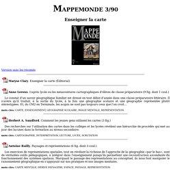 M Clary Enseigner la carte. Mappemonde 3/90