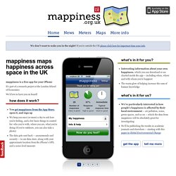 mappiness, the happiness mapping app