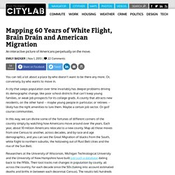 Mapping 60 Years of White Flight, Brain Drain and American Migration
