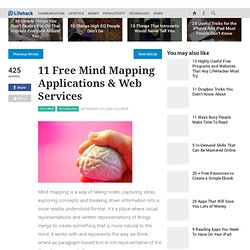 11 Free Mind Mapping Applications & Web Services