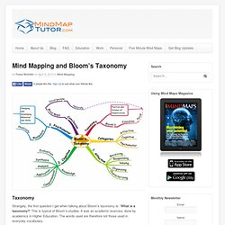 Mind Mapping and Bloom's Taxonomy