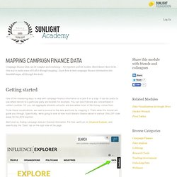 Mapping Campaign Finance Data from Sunlight Academy