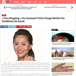 « Face Mapping » Ou Comment Votre Visage Révèle Vos Problèmes De Santé - Astuces de Mamie