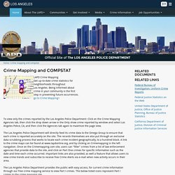 Crime Mapping and COMPSTAT