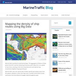 Mapping the density of ship routes using Big Data