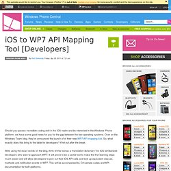 iOS to WP7 API Mapping Tool [Developers]