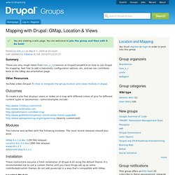 Mapping with Drupal: GMap, Location & Views