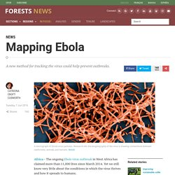 BLOG CIFOR 07/06/16 Mapping Ebola - A new method for tracking the virus could help prevent outbreaks.