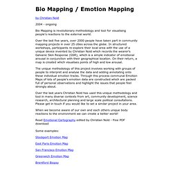 Bio Mapping / Emotion Mapping by Christian Nold