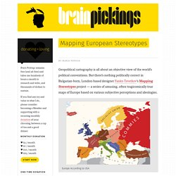 Mapping European Stereotypes
