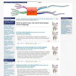 [Le mindmapping pour tous] : Faire le point avec une carte heuristique (mind mapping)