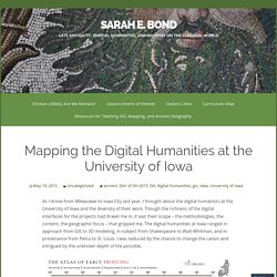 Mapping the Digital Humanities at the University of Iowa