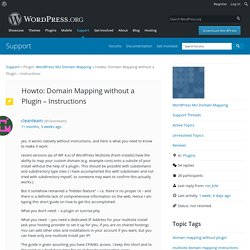 Topic: Howto: Domain Mapping without a Plugin – Instructions « WordPress.org Forums