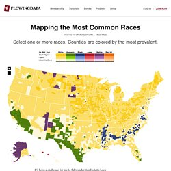 Map of Most Common Race