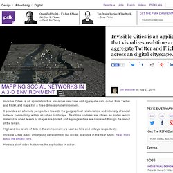 Mapping Social Networks In A 3-D Environment