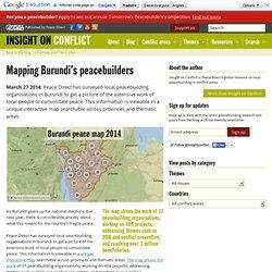 Mapping Burundi's peacebuilders