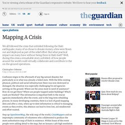 Mapping A Crisis | The Guardian Open Platform