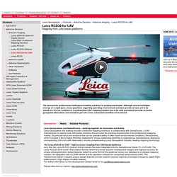 Leica RCD30 for UAV - Mapping from UAV-based platforms - Leica Geosystems