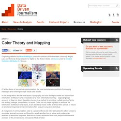 Color Theory and Mapping