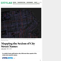Mapping the Sexism of Street Names in Major Cities