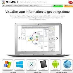 Mind Mapping Software | Genuine Mind Maps Software | NovaMind.com