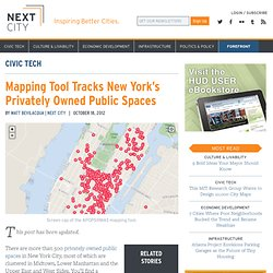 Mapping Tool Tracks New York's Privately Owned Public Spaces