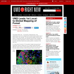 UMD Leads 1st Local-to-Global Mapping of Forest