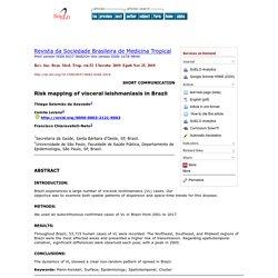 Rev. Soc. Bras. Med. Trop. vol.52 Uberaba 2019 Epub Nov 25, 2019 Risk mapping of visceral leishmaniasis in Brazil