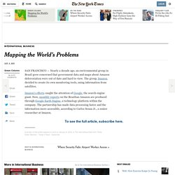 Mapping the World's Problems