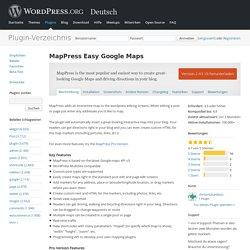 MapPress Easy Google Maps — WordPress Plugins