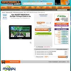 Soldes MAPPY MAXI E618 Europe 14 Pays Carte à vie gps à prix discount