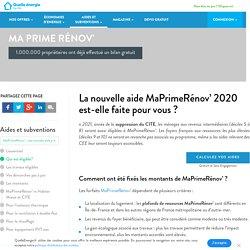 MaPrimeRénov' 2020 : à qui s'adresse-t-elle ?