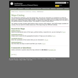 Maps Catalog